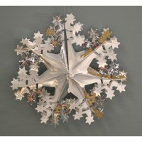 Silver Christmas Foil Hanging Decorations (Set of 3) by Premier