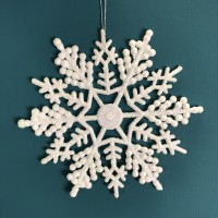Snowflake Design Christmas Hanging Decorations (Set of 10) by Premier
