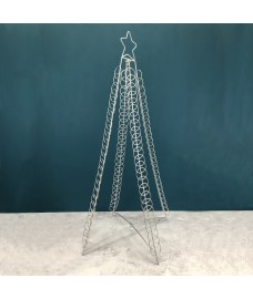 Large Silver Christmas Tree Card Holder for 100 Cards