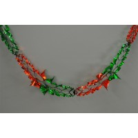Green and Red Christmas Foil Hanging Garland Decoration (2.7m)