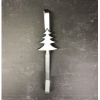 Tree Design Silver Metal Christmas Wreath Door Hanger