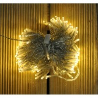 200 LED Warm White Supabright String Lights with Clear Cable (Mains) by Premier