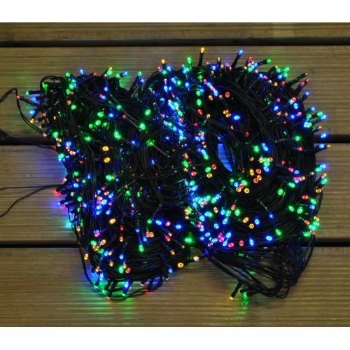 by Premier 200 LED Xmas Warm White Christmas Supabright String Lights Battery