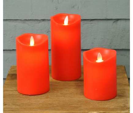 Set of 3 Dancing Flame Candles (Battery Operated)