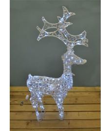White Twinkling Reindeer Christmas Decoration Light (120cm)