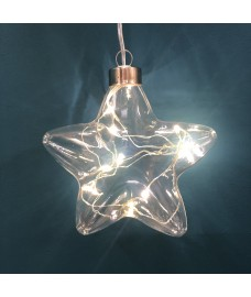 Battery Operated LED Crystal Star Light Christmas Decoration by Three Kings