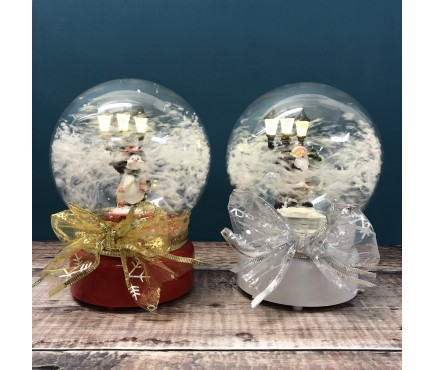 Air Blown Musical Christmas Snow Globe with Light