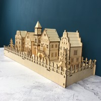 LED Annecy Wooden Christmas Village - Opened Box Stock