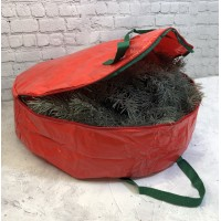 Extra Large Christmas Wreath Storage Bag (Set of Two)