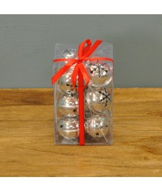 Pack of 12 Silver Jingle Bells Decorations