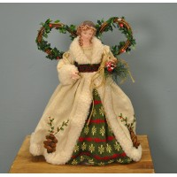 Woodland Fairy Christmas Tree Topper Decoration With Wings by Premier