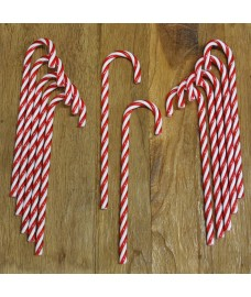 Red & White Candy Canes Christmas Decorations (Set of 12) by Premier