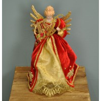 Maya Harpist Fairy Christmas Tree Topper