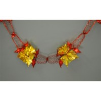 Red and Gold Christmas Foil Hanging Garland Decoration (2.7m)