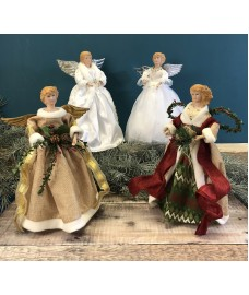 Christmas Tree Angel Tree Topper Fairies (Set of 4)