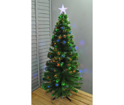 6ft (180cm) Green Fibre Optic LED Artificial Christmas / Xmas Tree by Premier