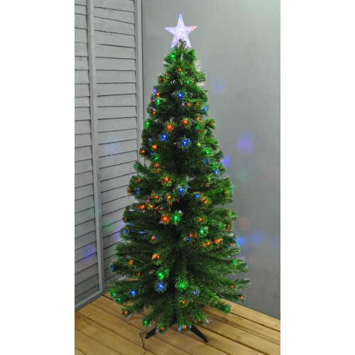 Artificial Christmas Tree With Lights.6ft 180cm Green Fibre Optic Led Artificial Christmas Xmas Tree By Premier