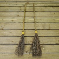 Halloween Costume Witch or Wizard Besom Broomsticks (Set of 2)