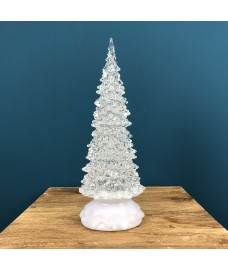 Colour Changing Glitter Christmas Tree (27cm)