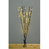 80 LED Pre-Lit Decorative Black Christmas Twig Lights (Mains) by Premier