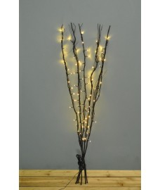 80 LED Pre-Lit Decorative Black Christmas Twig Lights (Mains)