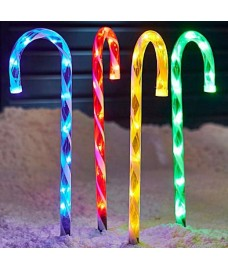 Set of 4 Candy Cane Path Lights by Premier