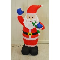 Inflatable Santa (120cm) with LEDs by Kingfisher
