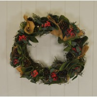 Pre-Lit Festive Christmas Wreath by Gardman