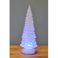 32cm Battery Operated Light up Water Spinner Christmas Tree by Premier