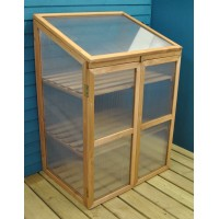 Factory Second - Wooden Framed Polycarbonate Growhouse Mini Greenhouse