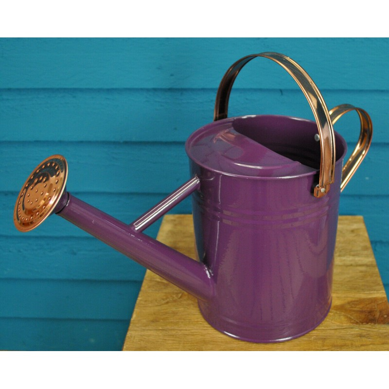 Factory Second - Purple Heather & Copper Metal Watering Can (3.5 Litre)