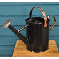 Factory Second - Heritage Black & Copper Metal Watering Can (3.5 Litre)