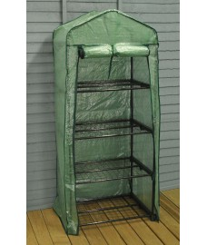 Four Tier Mini Greenhouse with Reinforced Cover - Damaged Box Stock