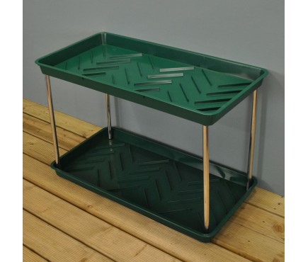 Green Plastic Boot Storage and Drying Tray (2 tier) by Garland