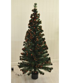 180cm Fibre Optic Artificial Green Christmas Tree by Kingfisher
