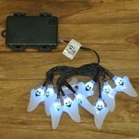 10 LED Halloween Ghost String Lights (Battery) by Smart Solar