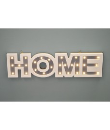Home Wooden LED Light Up Sign by Westwoods