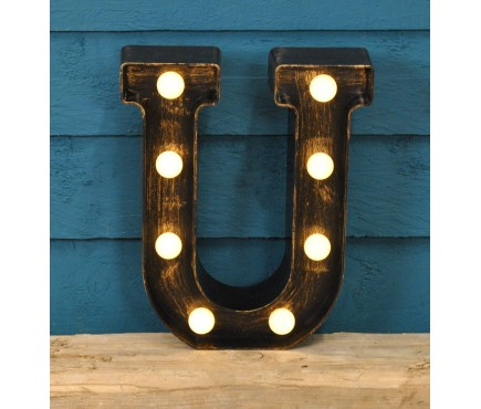 Letter U - Battery Operated Lumieres Light by Smart Garden