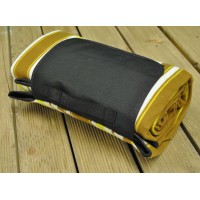 Picnic Blanket with Brown, White and Yellow Stripes (200cm x 150cm)