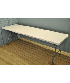White Folding Trestle Table (240cm)