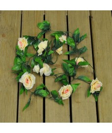 Champagne Rose Artificial Garland (2m)