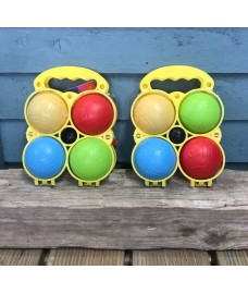 Set of 2 Plastic French Boules Garden Game by Premier
