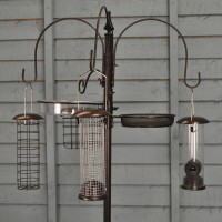 Metal Complete Bird Feeding Station with 4 Feeders - Damaged Box Stock