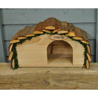 Factory Second - Wooden Hedgehog House Hogitat With Bark Roof