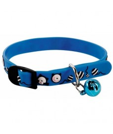 Blue PVC Cat Collar with Bell