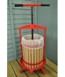18 Litre Traditional Fruit and Apple Cider Press with Cross Bar and T Handle