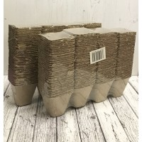 Square Fibre 8cm Plant Pots (Pack of 288) Biodegradable and Compostable