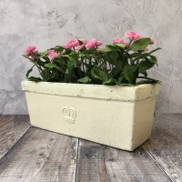 Cream Ceramic Balcony Garden Planter