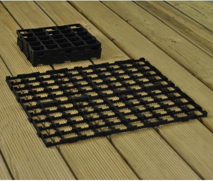 Interlocking Growbag Mat for Improved Drainage (Set of 8)