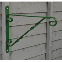 Metal Hanging Basket Bracket in Green (33cm) by Gardman